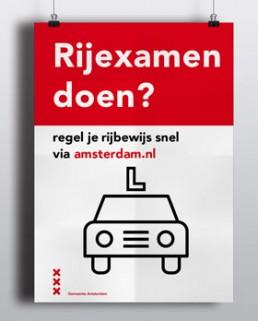 abri campagne gemeente amsterdam pictogram rijbewijs