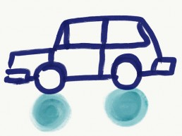 illustratie van auto door illustrator Carmen Nutbey