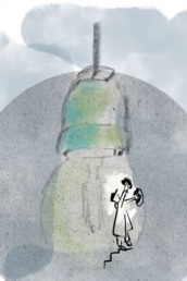 Illustration of lightbulb by Dutch Illustrator Carmen Nutbey