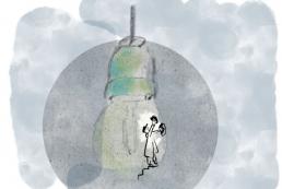 Illustration of old light bulb by dutch illustrator Carmen Nutbey