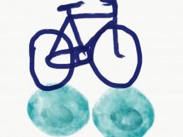 illustratie van fiets