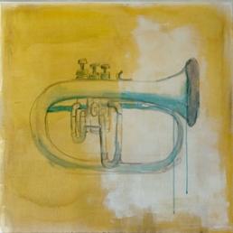 schilderij trompet carmen nutbey
