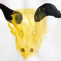 Tekening van stier door illustrator Carmen Nutbey