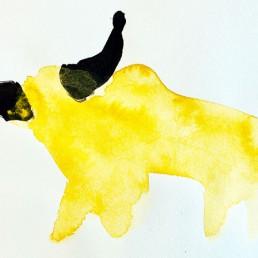 illustratie stier - Dutch illustrator Carmen Nutbey