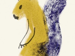Illustratie van Eekhoorn - Illustration of Squirrel illustratie illustration dutch illustrator carmen nutbey amsterdam nederland netherlands