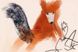 Illustratie van vos - dutch nederlandse illustrator carmen nutbey
