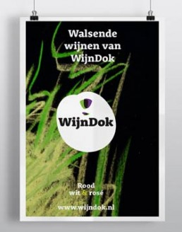 Branddesign naming logo wijndok by dutch designer illustrator carmen nutbey