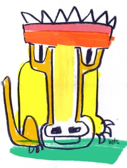 illustration illustratie leeuw lion - illustrator carmen nutbey amsterdam dutch netherlands