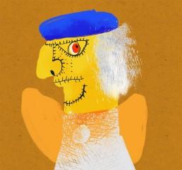 pop kunstenaar paul klee - nederlandse illustrator carmen nutbey