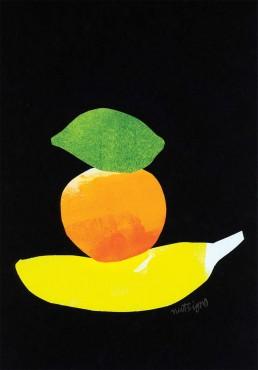 editorial illustration fruit food trio dutch illustrator carmen nutbey