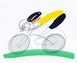 illustratie tour de france jumbo visma - illustrator carmen nutbey amsterdam