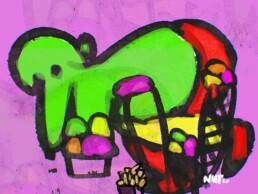 illustratie illustration ijs icecream monster - illustrator carmen nutbey amsterdam netherlands