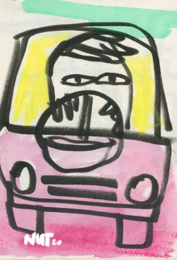 sketchbook illustration - cardriver - traffic - illustrator carmen nutbey