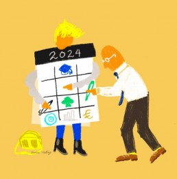 redactionele illustratie duurzame inzetbaarheid illustrator carmen nutbey - editorial illustration sustainable employability