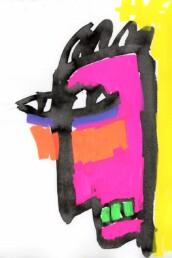 Illustratie Boze man - illustration angry man - illustrator carmen nutbey