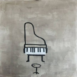 painting acryl on canvas of llittle piano by dutch artist carmen nutbey