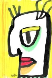 illustratie illustration med man - boze man - illustrator carmen nutbey amsterdam netherlands