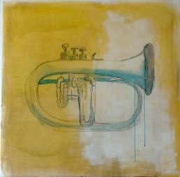 lil trumpet - acryl on canvas - dutch artist carmen nutbey