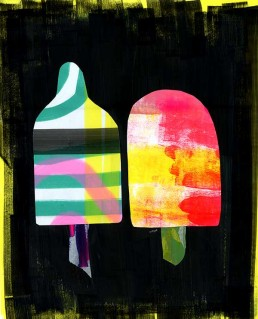 Waterijsjes illustratie acrylverf op papier popsicles dutch illustrator carmen nutbey