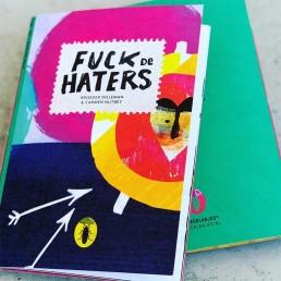 redactioneel illustrator carmen nutbey illustreert 'fuck de haters' kakkerlakje uitgeverij loopvis dutch editorial nederlands