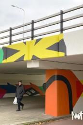 muurschildering mural amsterdam reigersbos tunnel kunstenaar carmen nutbey illustrator