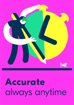 Redactionele illustratie accurate timemanagement - illustration tijd accuraat - illustrator carmen nutbey editorial dutch