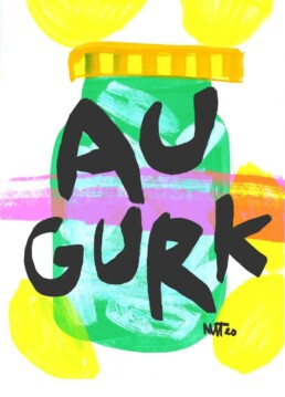 illustratie illustration augurken pickles illustrator carmen nutbey amsterdam netherlands