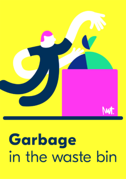 Redactionele illustratie vuilnis afval - editorial corporate illustration garbage - illustrator carmen nutbey amsterdam nederland netherlands dutch