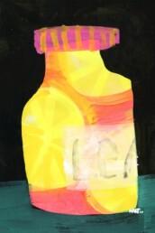 Illustratie illustration lemon pot citroen - illustrator carmen nutbey