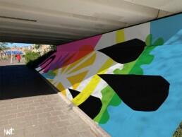 muural Muurschildering Onderdoorgang tunnel Reigersbos Amsterdam - Illustrator Ontwerper visual designer Artist Carmen Nutbey
