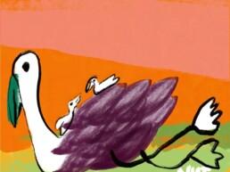 redactionele illustratie lifting - illustration - motherhood - illustrator carmen nutbey