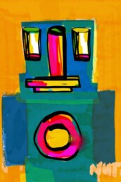 redactionele illustratie robot - illustrator carmen nutbey - editorial illustration