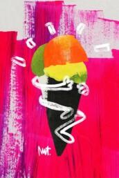 redactionele illustratie ijs - editorial food illustration - illustrator carmen nutbey