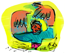redactionele illustratie laten maken - handy man - editorial illustrator Carmen Nutbey Amsterdam Dutch