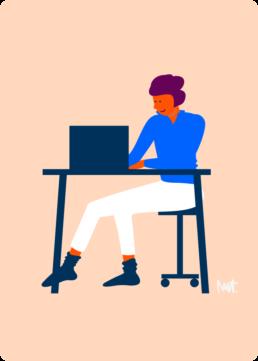 web illustratie - direct online geregeld - woningcorporatie de alliantie - illustrator carmen nutbey