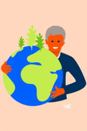 web illustratie - duurzaam groen - woningcorporatie de alliantie - illustrator carmen nutbey