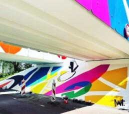 muurschildering mural mura lart dutch illustrator carmen nutbey passage amsterdam reigersbos ravenswaaipad