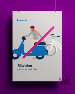 Illustratie Verboden te - illustrator carmen nutbey - illustratie laten maken - no parking illustration - illustratie laten maken