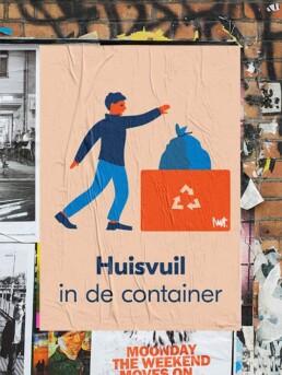 poster illustratie woningcorporatie de alliantie - illustrator carmen nutbey - nederland dutch