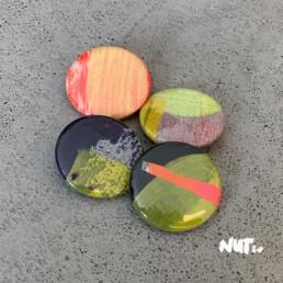 Pins Buttons Art Fashion Design Artist Kunstenaar Carmen Nutbey Illustrator Dutch Netherlands Amsterdam Nederland Creative Visual