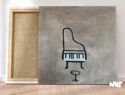 piano canvas acryl paint visual artist carmen nutbey