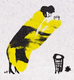 kill your darling - editorial illustration conceptual - redactionele - dutch illustrator carmen nutbey amsterdam - illustratie laten maken