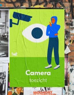 editorial illustration redactionele illustratie corporate - De Alliantie - Camera toezicht _ Observation - Illustratie in opdracht - Commission