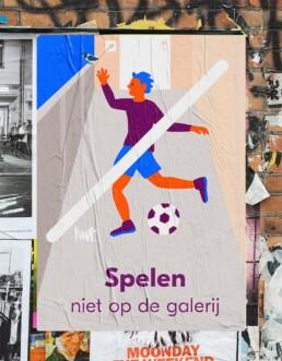 editorial illustration redactionele illustratie corporate - De Alliantie - spelen op galerij verboden - Illustratie in opdracht - Commission